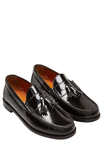 Next Hombre Mocasines Borlas Negro EU 47: Amazon.es: Zapatos y complementos
