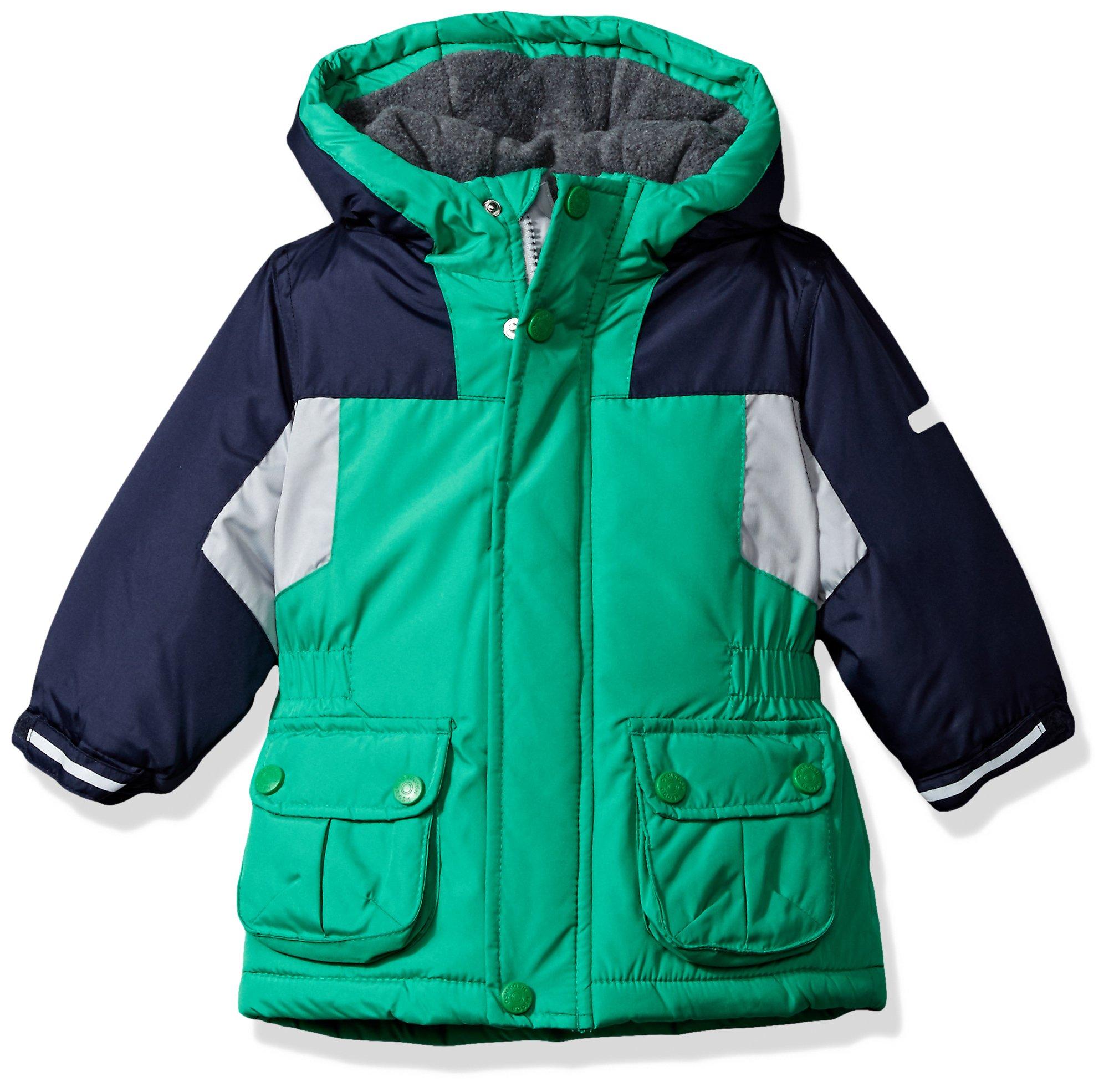 Osh Kosh Baby Boys Awesome Heavyweight Blocked Jacket Coat, Green/Blue, 18M by OshKosh B'Gosh