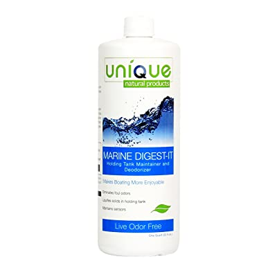 Unique Marine Digest-It Holding Tank Treatment - 32 oz. | Liquefies Waste and Eliminates Odors Without Masking | For Black and Gray Tanks | No Strong Fragrances: Home & Kitchen