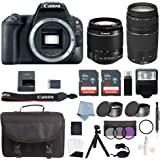 Canon EOS Rebel SL2 Bundle With EF-S 18-55mm IS STM & EF 75-300mm III Lens + Advanced Accessory Kit - Includes EVERYTHING You Need To Get Started