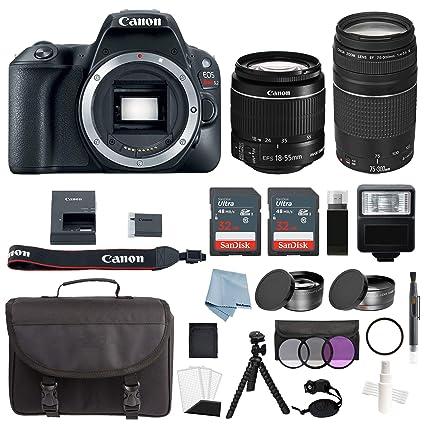 Canon EOS Rebel SL2 Bundle con EF-S 18-55 mm IS STM & EF 75 ...