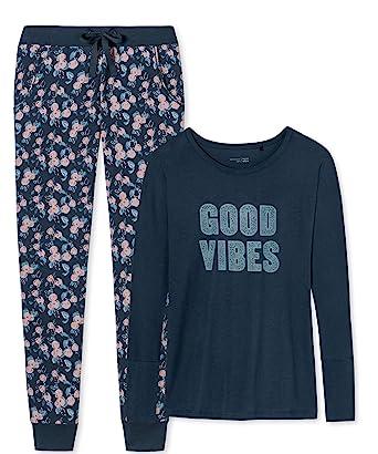 b95c9b10ea7349 Schiesser Damen - Schlafanzug Mix & Relax mit Jerseyhose lang aus ...