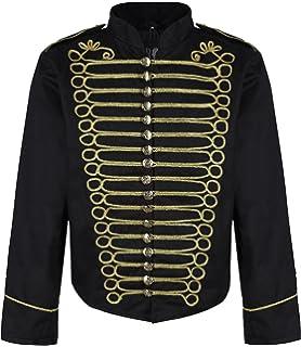 Ro Rox Mens Military Drummer Steampunk Parade Jacket (Black ...