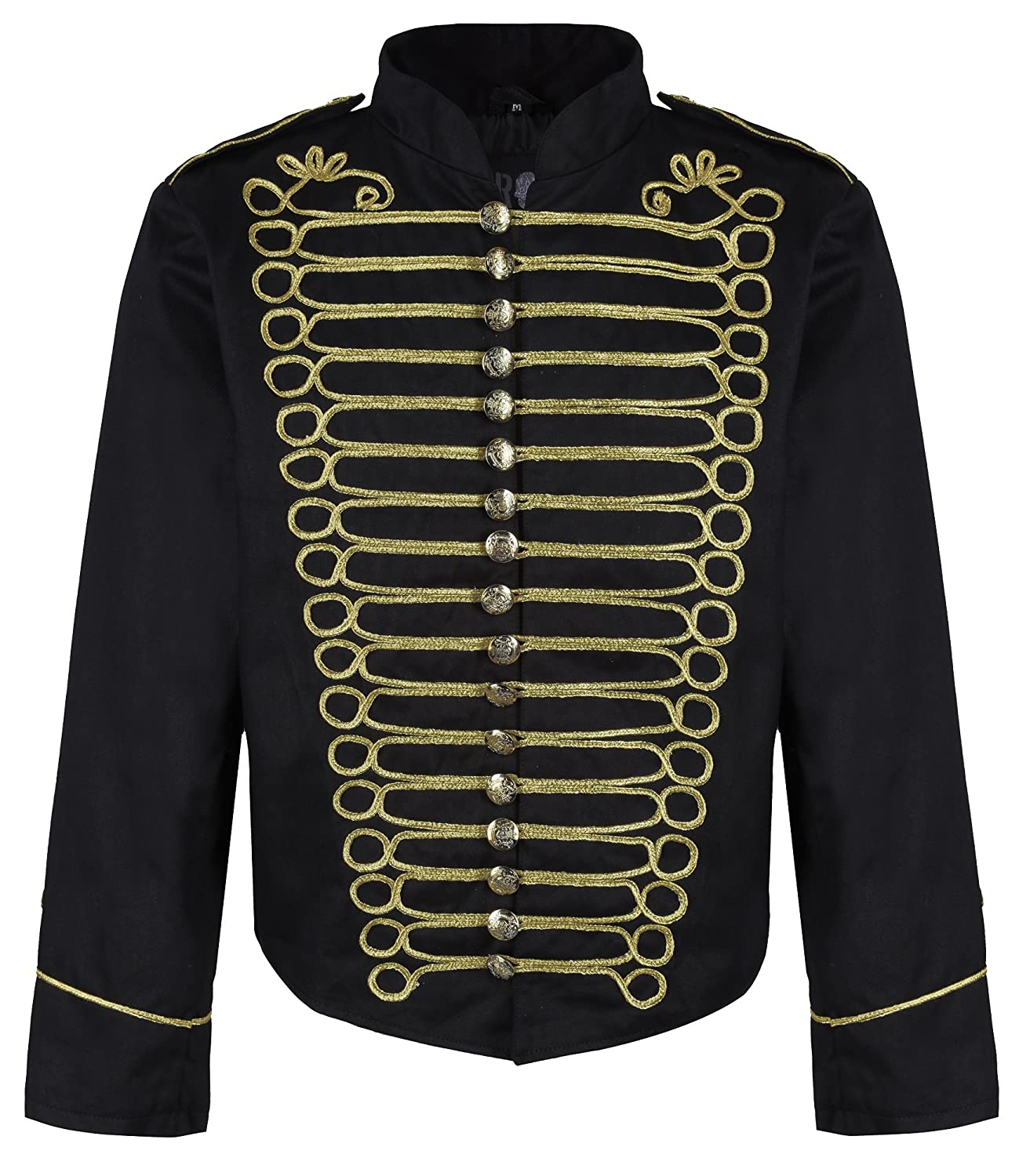 60s 70s Men's Jackets & Sweaters Ro Rox Mens Punk Officer Military Drummer Parade Jacket $59.99 AT vintagedancer.com