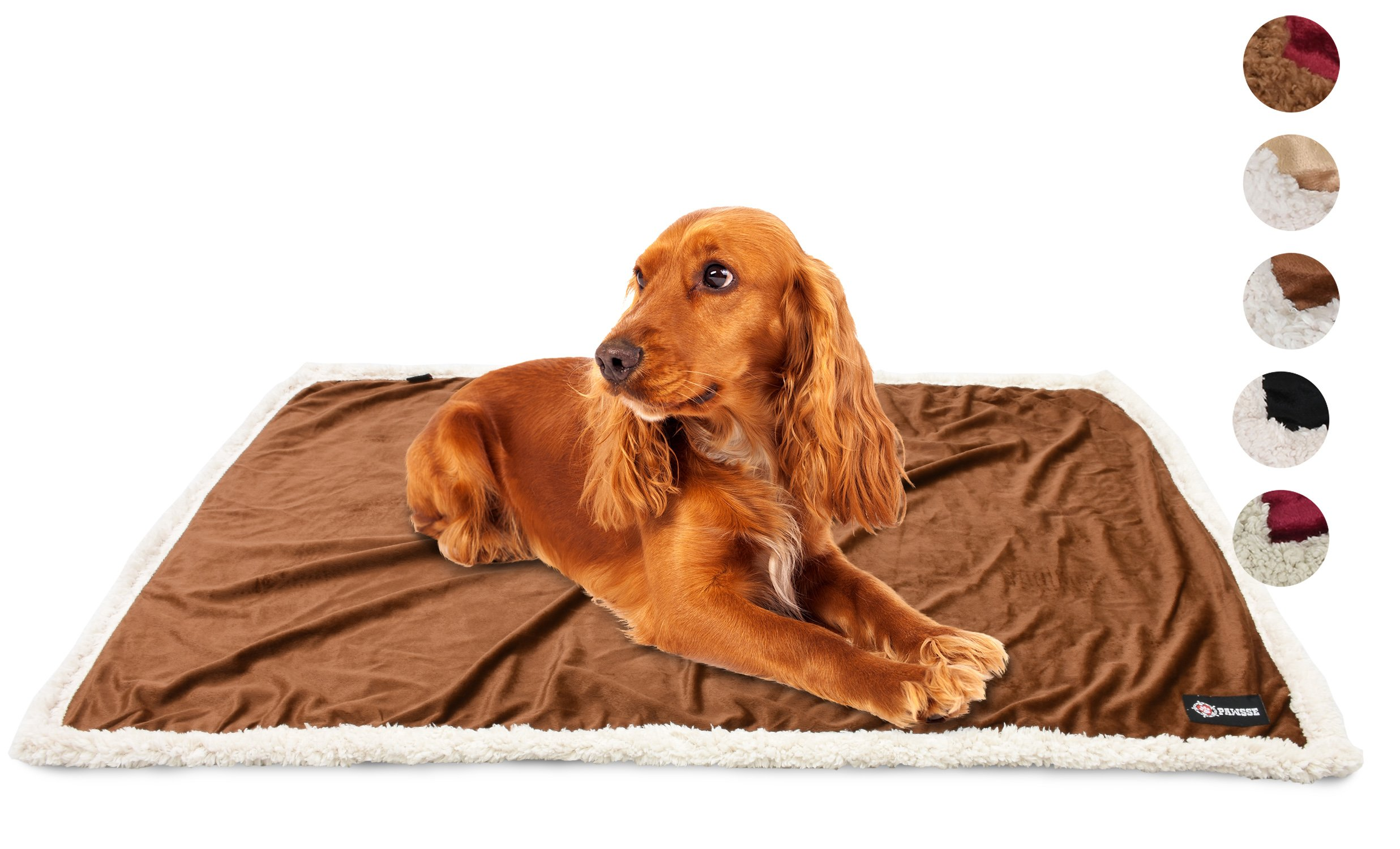Puppy Blanket,Super Soft Sherpa Dog Blankets and Throws Cat Fleece Sleeping Mat for Pet Small Animals 45x30 Brown