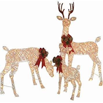 Amazon.com: Holiday Time Christmas Decor Set of 3 Woodland Vine Deer ...