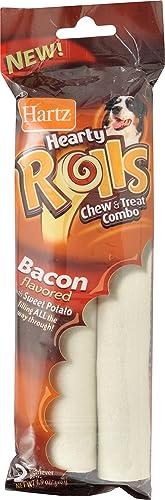 Hartz Hearty Rolls Bacon Size 4.9z Hartz Hearty Rolls Chew Treat Combo Bacon 2pk 4.9z