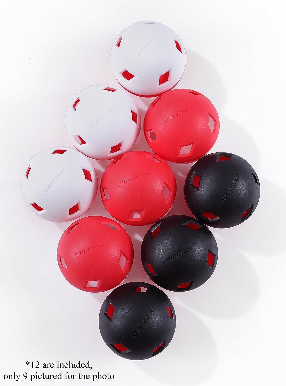 Flight Control Plastic Baseballs Rukket 12pk Flight Control BallsImpact