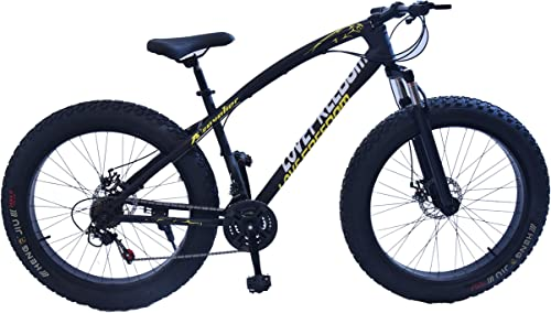 4. Fat Tyre 26 Inch Black Love Freedom Bicycle