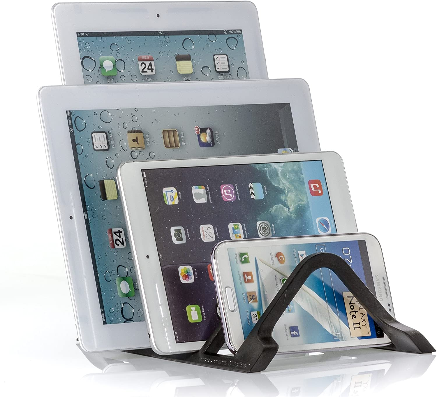 Prosumer's Choice Universal 4 Tablet and Smartphone Charging Organizer Rack/Desktop Stand Holder