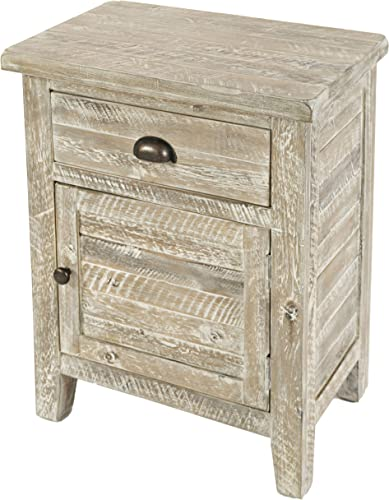 Jofran Artisan s Craft Accent Table Washed Grey, 20 W X 13 D X 25 H, Finish, Set of 1