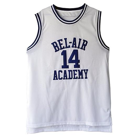 3123ecf28210 MOLPE Men s Will Smith  14 Bel Air Academy Basketball Jersey S-XXXL White (