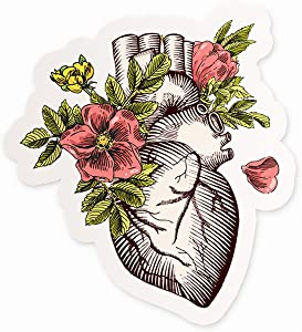 """Cool Anatomical Heart Vinyl Sticker 