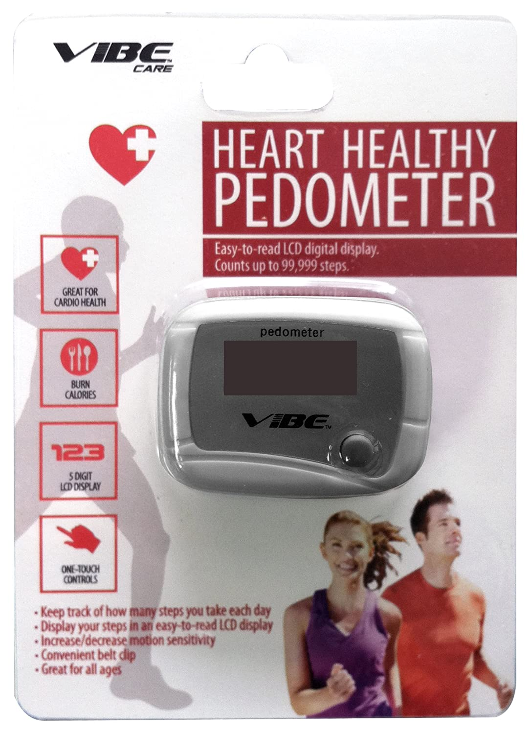 Vibe Heart Healthy Pedometer- White by Vibe   B00DUH5U6E