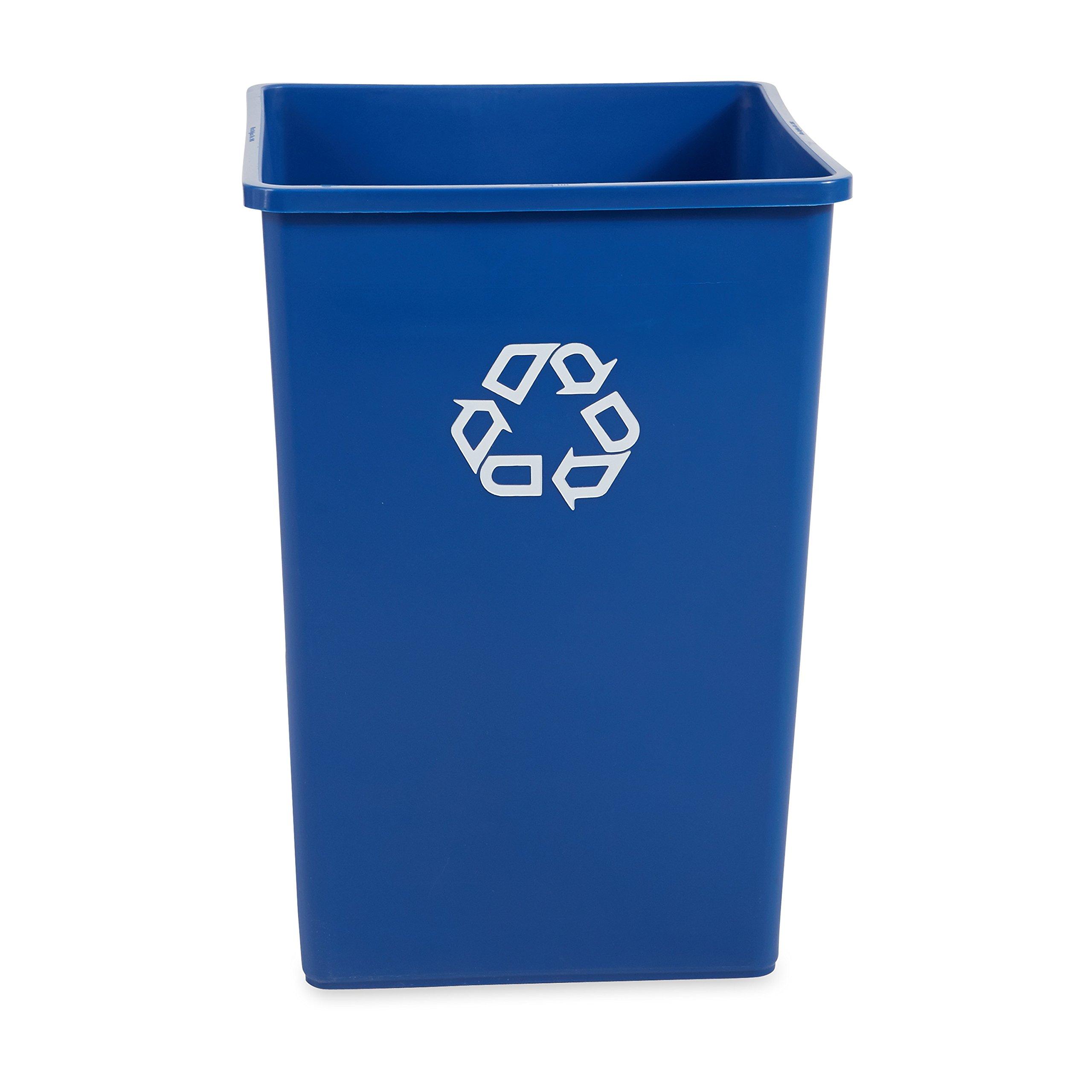 Rubbermaid Commercial Recycle Bin, 35 Gallon, Blue, FG395873BLUE) by Rubbermaid Commercial Products