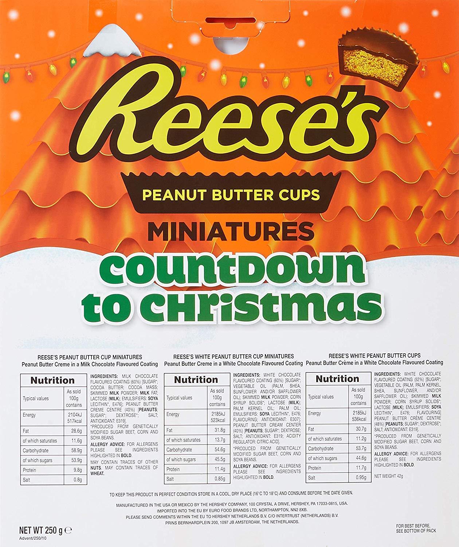 Reeses Amerikanischer Adventskalender Peanut Butter Cups 250g