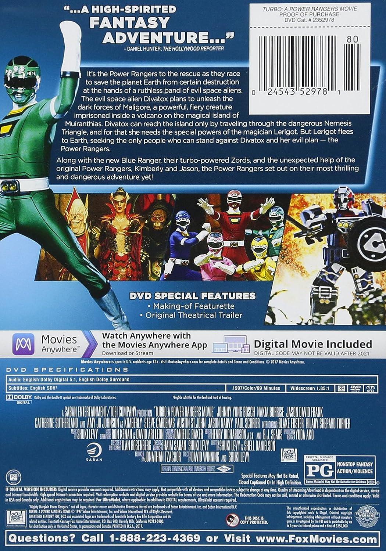Turbo: Power Rangers Movie Edizione: Stati Uniti Italia DVD: Amazon.es: Cine y Series TV