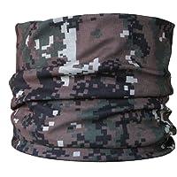 Braga para el cuello, pañuelo de microfibra multifunción, diseño de oscura de camuflaje verde del pixel