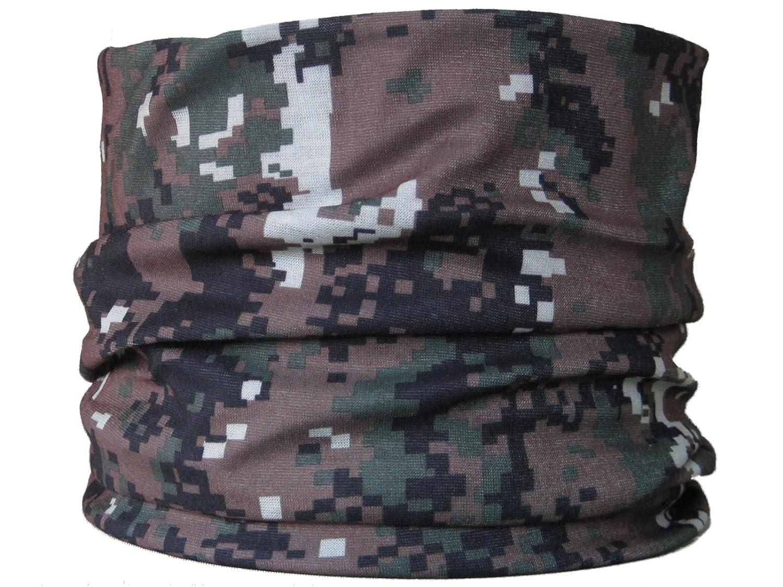Braga para el cuello, pañuelo de microfibra multifunción, diseño de oscura de camuflaje verde del pixel wendywwoo