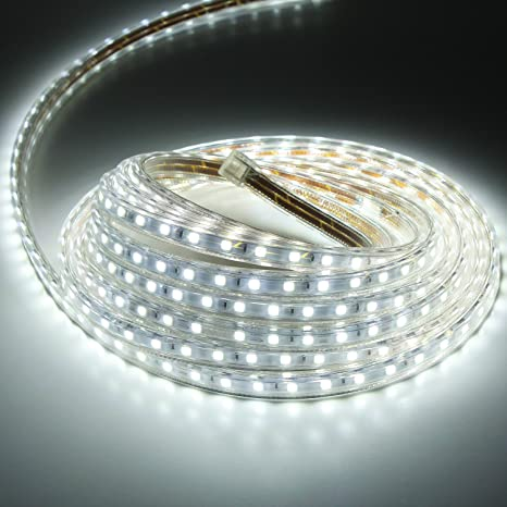 the latest f0679 21b42 Liqoo 230V LED Flexible Strip Light 60/M 2M 3M 5M IP67 Waterproof Warm  White Cool White 5050 SMD