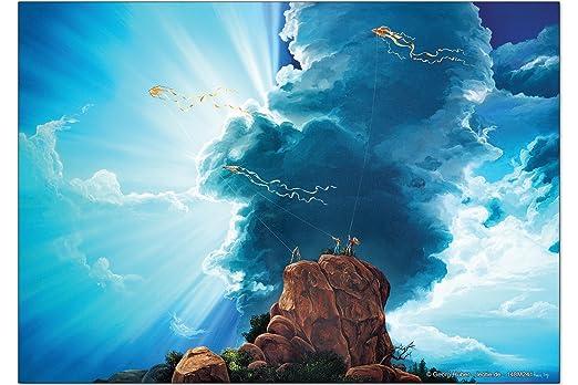 Iman Nevera Feng Shui Foto G. Huber Luz solar de las nubes: Amazon ...