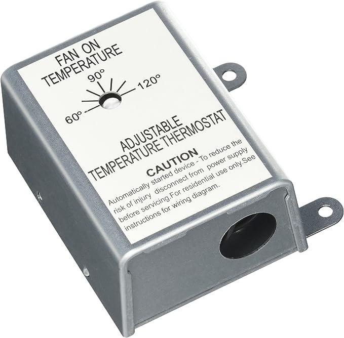 Nutone RFTH95 Attic Ventilator Replacement Thermostat, Automatic - Attic Fan  Temp Control Switch - Amazon.comAmazon.com