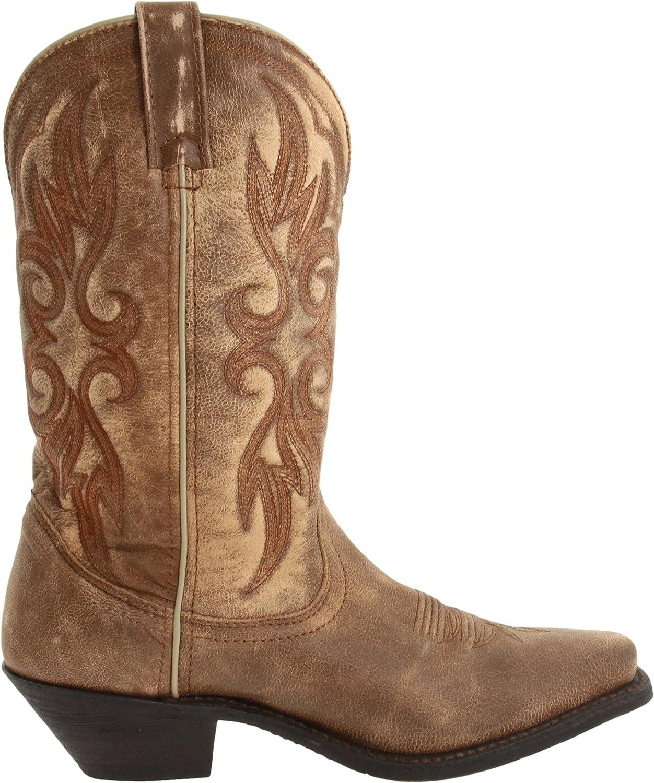 Laredo Women's Maricopa Boot B007CO07ZK 10 B(M) US Tan/Tan Crackle Goat