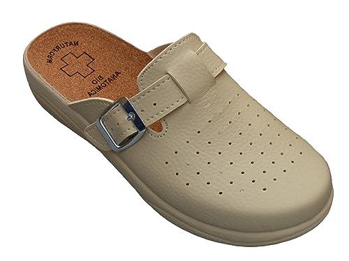 Calzado De Trabajo Corcho Hospital Zapatillas Cuero Mujeres Bawal 46OqwpTz4