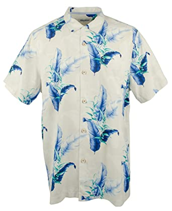ae880562 Tommy Bahama Shadow Fronds Silk Camp Shirt (Color: Coconut Cream, Size XL)  at Amazon Men's Clothing store: