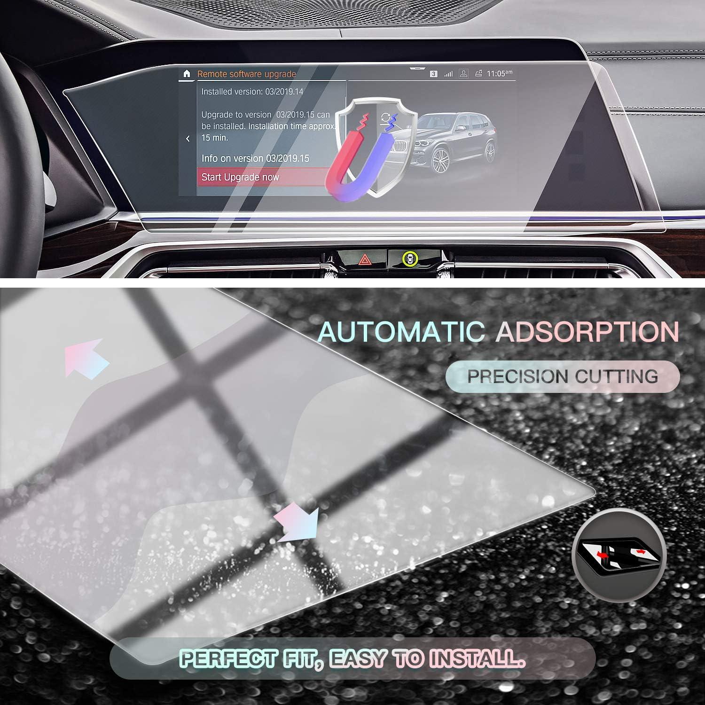 Transparent Anti-traces de doigts SHAOHAO Film de protection d/écran de navigation pour BMW X5 F15 X6 F16 10,2 9H Anti-rayures