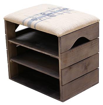 meuble chaussures taupe banc de rangement pour chaussures avec tagres assise confortable