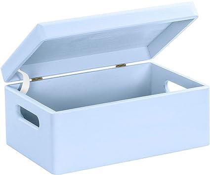 Hojas Lust – Baby Caja de madera para nacimiento en tamaño m – Pino Azul lacado