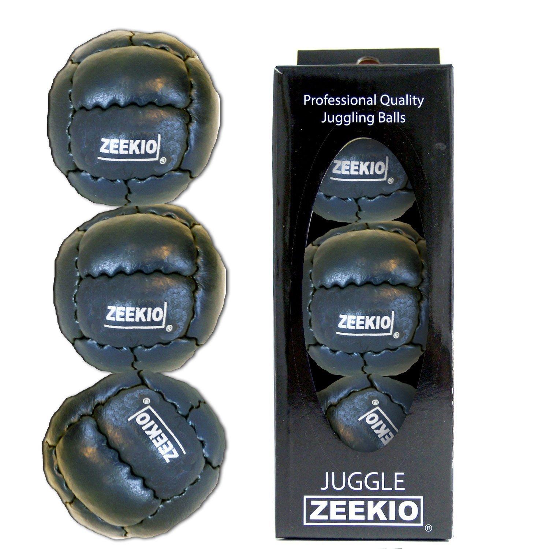 Zeekio Galaxy Juggling Ball Boxed Set of 3 Juggling Balls Black