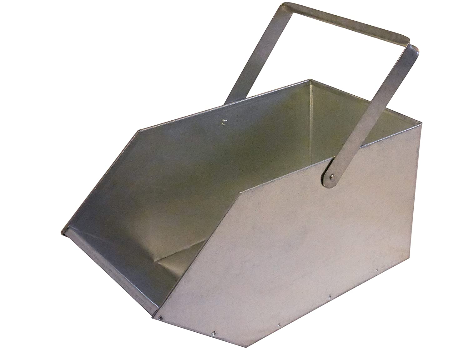 "Coal Scuttle/Wood Basket/Pellet Basket ""Bergwerk"" made from Galvanised Sheet Metal, Can Also Be Used as a Kindling Wood Storage Basket or as an Ash Bin kaufMAX"