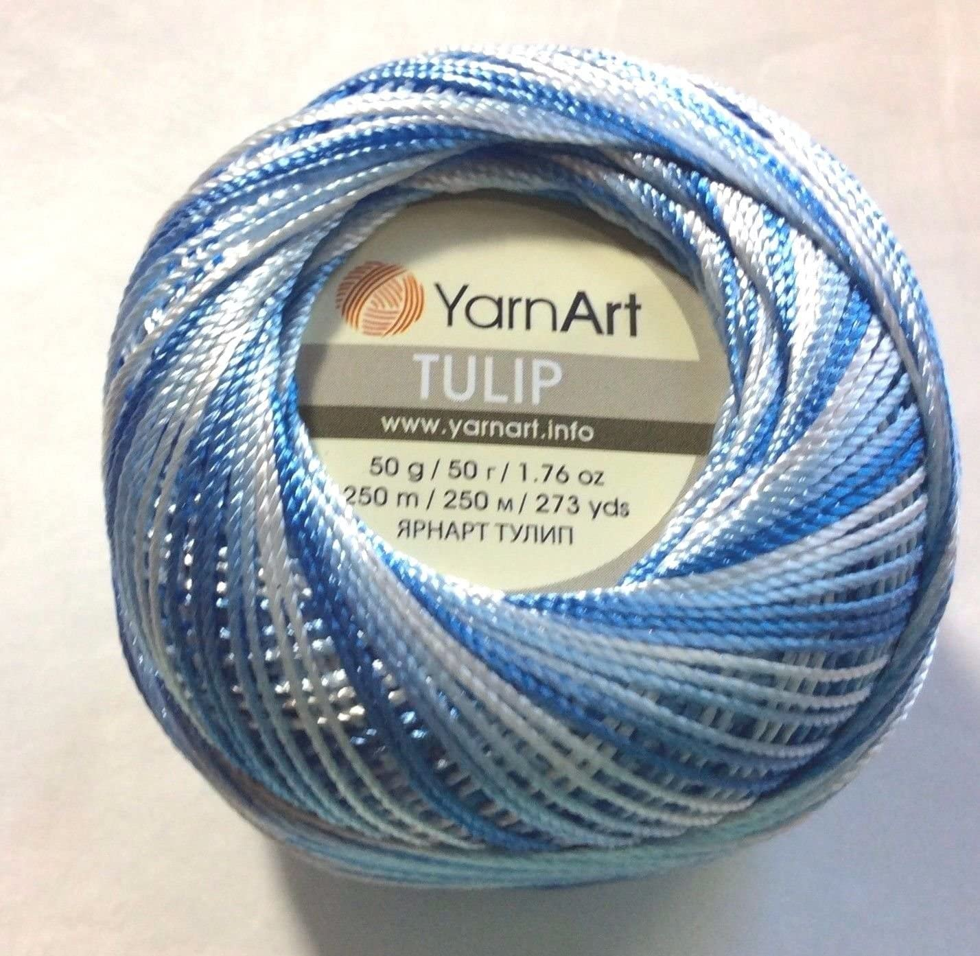 Silky Weight Size 0 LIGHT BLUE Tulip YarnArt Microfiber Crochet Thread Size 10