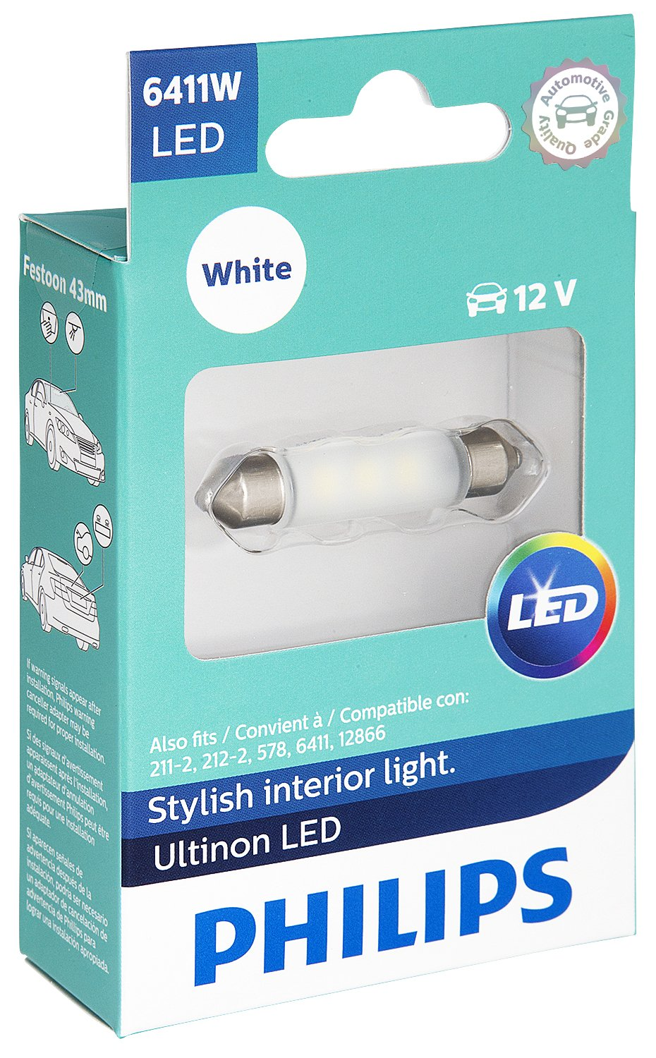 Philips 6411 Ultinon LED Bulb (White), 1 Pack by Philips