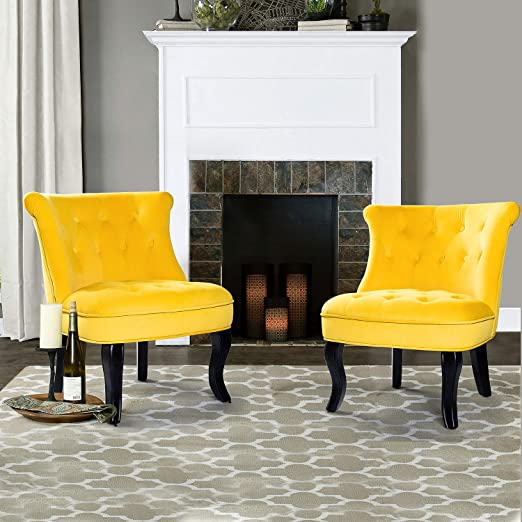 Amazon.com: Mid Century Modern Tufted Accent Chair for Small ...