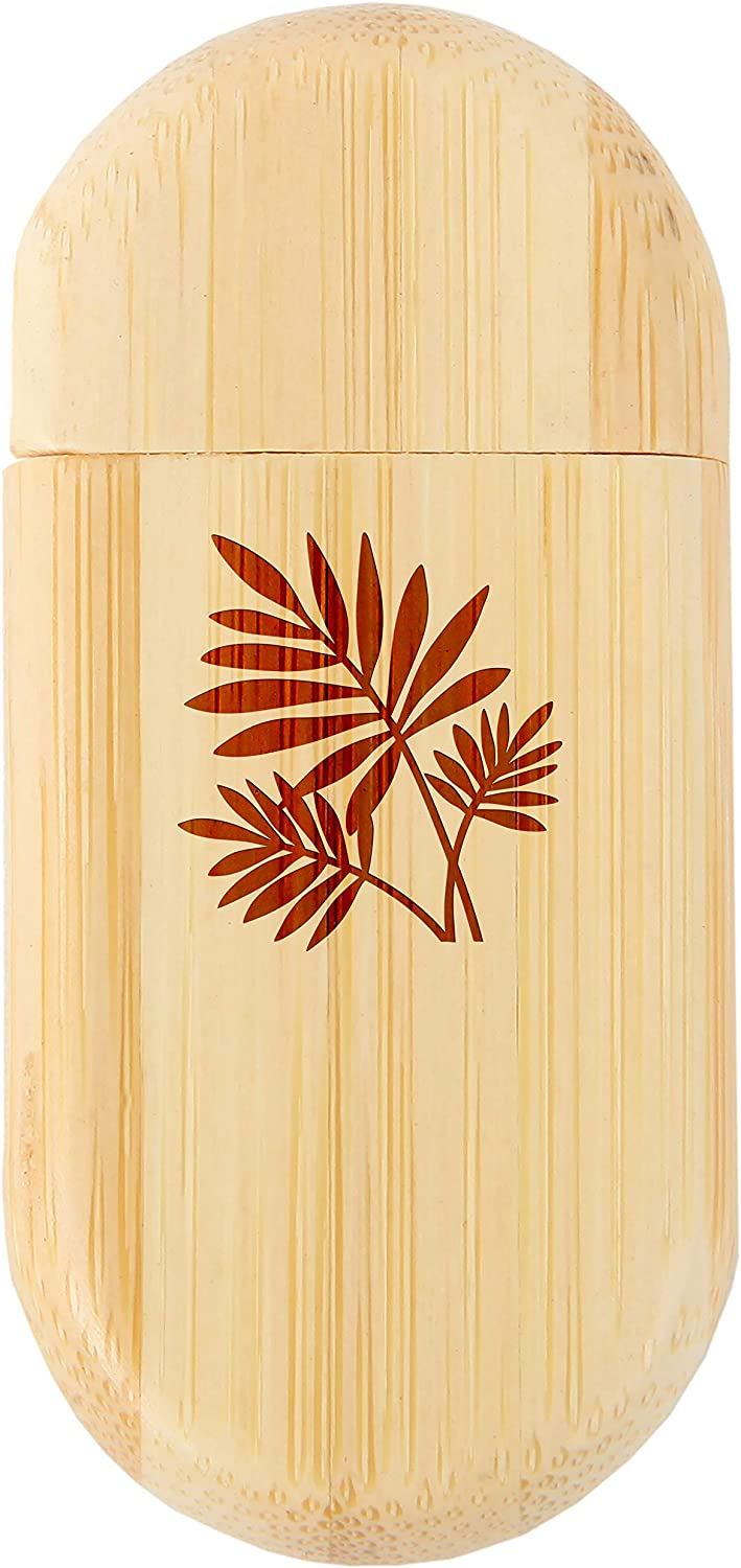 Fern 8Gb Bamboo USB Flash Drive with Rounded Corners 8Gb USB Gift for All Occasions Wood Flash Drive with Laser Engraving