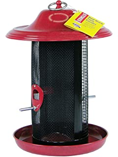Stokes Select Red Rock Twin Chamber Bird Feeder With Metal Roof, Red, 2.4 Lb