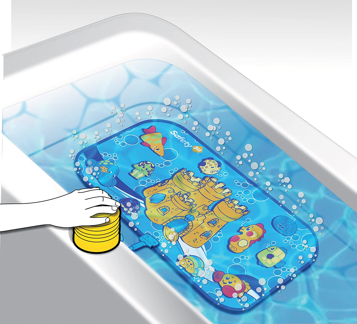 Amazon.com : Safety 1st Bubble Time Bath Mat : Baby Care Products : Baby