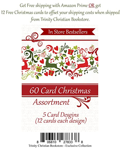 Amazon 60 ct christmas religious greeting card assortment w christmas religious greeting card assortment w scripture photos and paper m4hsunfo