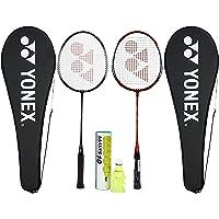 Yonex Beginner's Best Badminton Combo (GR 303 Aluminum Blend Racquet with Full Cover, Set of 2 + Mavis 10 Shuttlecock, Pack of 6)