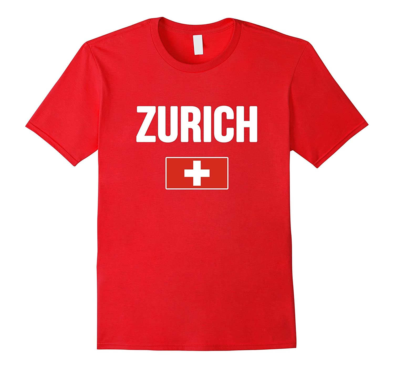 ZURICH T-shirt Swiss Flag Switzerland Tee Travel Souvenir-TH
