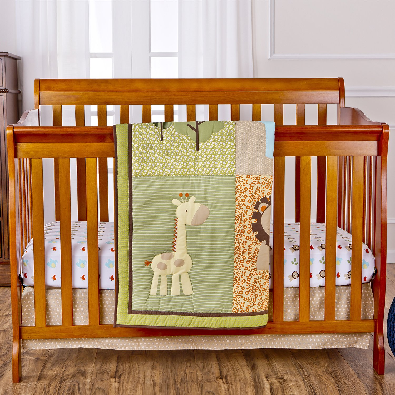 Amazon.com : Dream On Me 3 Piece Crib Bedding Set, Safari Animals : Crib  Bedding Sets For Boys With Bumper : Baby