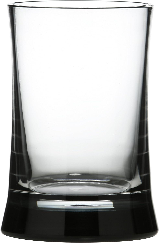 Premier Housewares Acryl-Zahnputzbecher schwarz//transparent