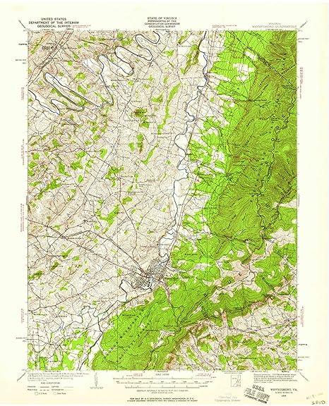 Amazon Com Yellowmaps Waynesboro Va Topo Map 1 62500 Scale 15 X