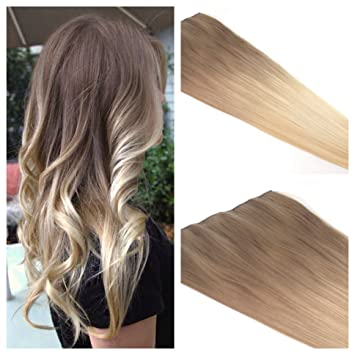 "Amazon.com : Ombre Hair 16"" Ash Blonde Ombre Clip In Hair ..."