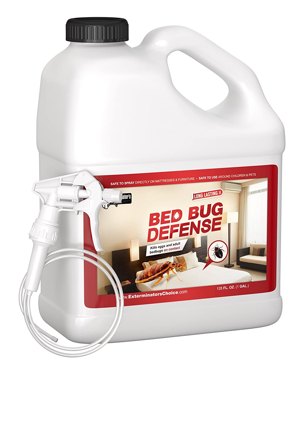 Exterminators Choice Bed Bug Defense-One Gallon-All Natural Kills & Repels BedBugs- One Gallon-128oz Insect Spray|Home Bed Bug Repellent & Killer|Spray for Bugs|Bug Repellent| …