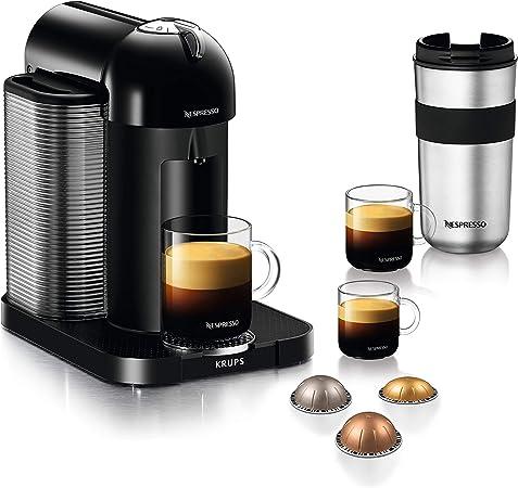 Krups Nespresso Vertuo XN9018 - Máquina de cápsulas (depósito de agua de 1,2 L, 5 tazas), color negro: Amazon.es: Hogar