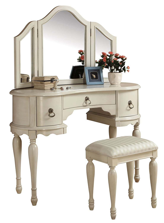 Amazon.com: Acme 90024 2 Piece Trini Vanity Set, White: Kitchen U0026 Dining